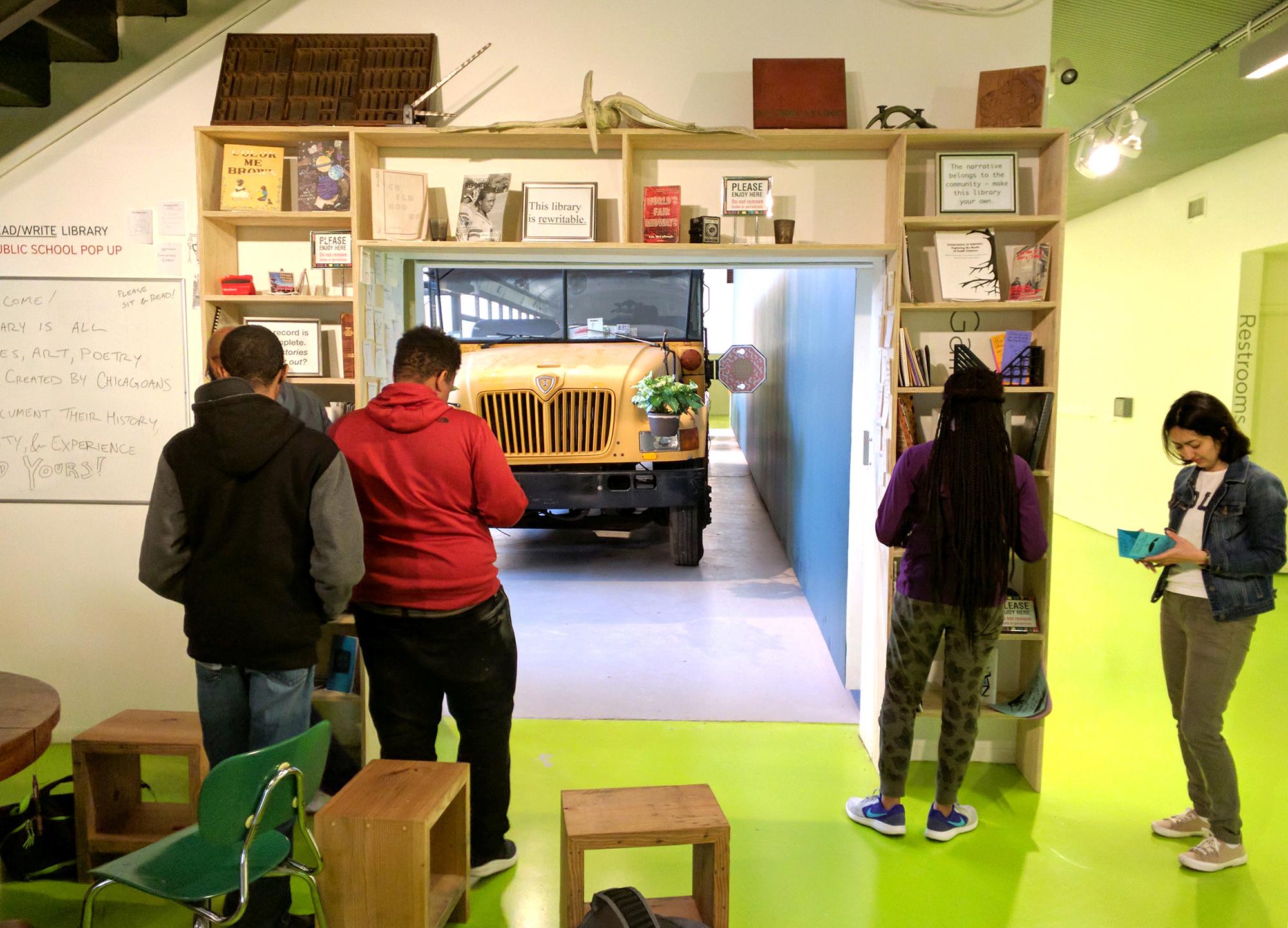 Workshop at Pop Up Library at Hyde Park Art Center 'Public School' Exhibition 2017