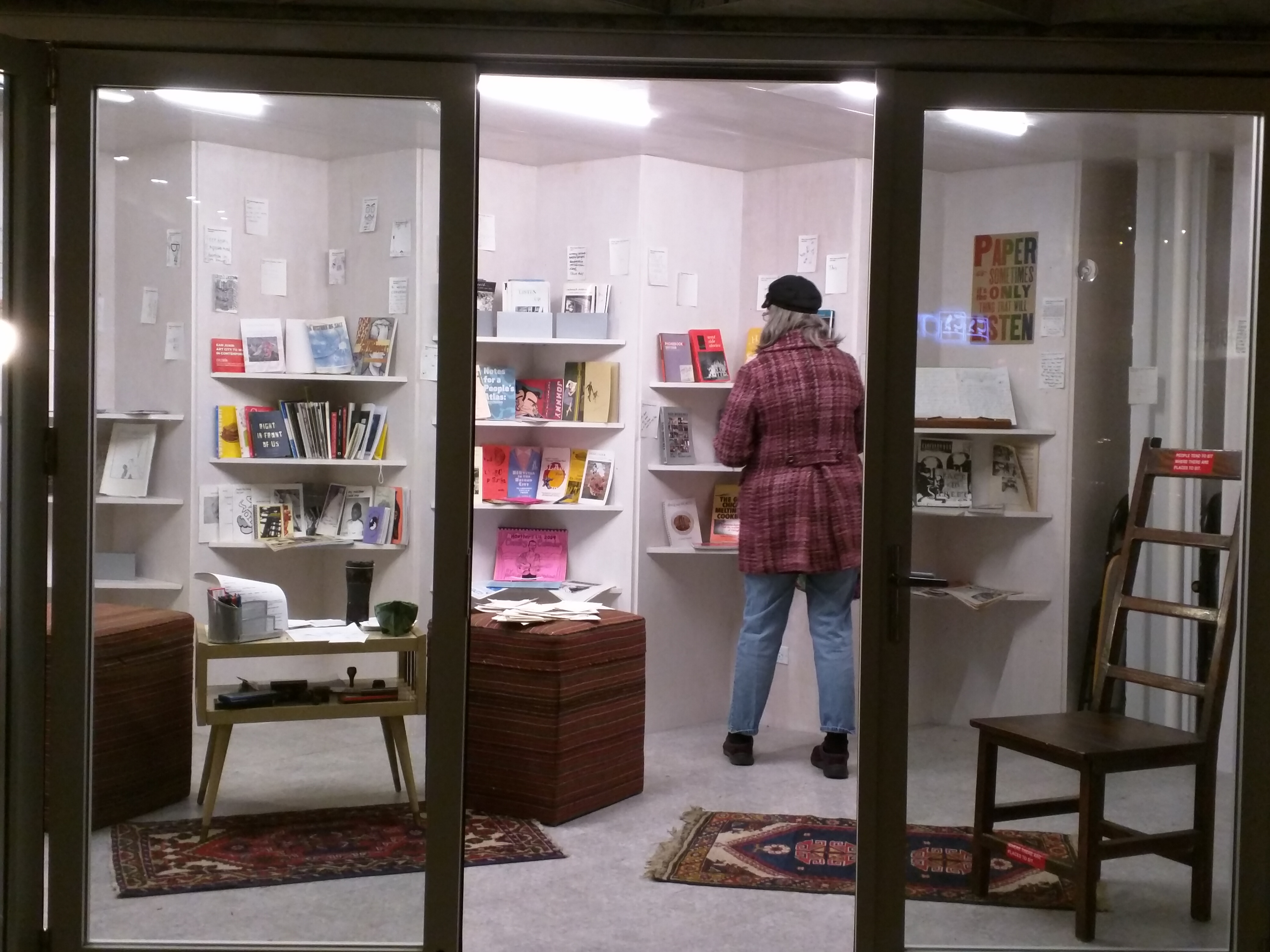Rewritable Wicker Park Pop Up Library at Boombox, 2015